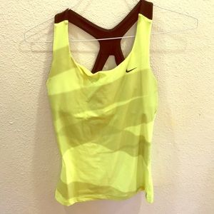 Nike tennis yellow athletic tank